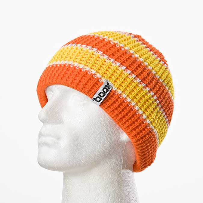 Sep Stripes machine-knitted beanie (Orange/yellow)