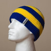 Fitted, Wide Stripes (Royal blue/Light yellow)