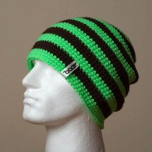 Loose, Narrow Stripes (Bright green/Black)