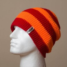 Baggy, Wide stripes (Deep red/Orange)