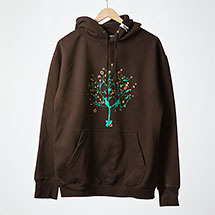 Digital Tree hoodie (Chocolate)