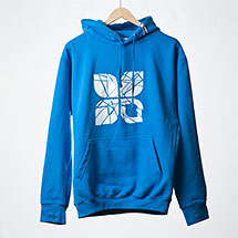 Shattered hoodie (Electric blue)
