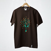 Digital Tree t-shirt (Chocolate)