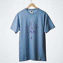 Digital Tree t-shirt (Denim)