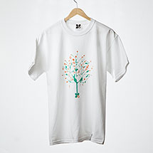 Digital Tree t-shirt (White w/ green)