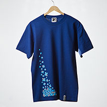 Snowflakes t-shirt (Pacific blue)