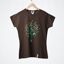 Digital Tree womens t-shirt (Chocolate)
