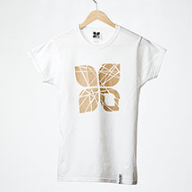 Shattered womens t-shirt (White)
