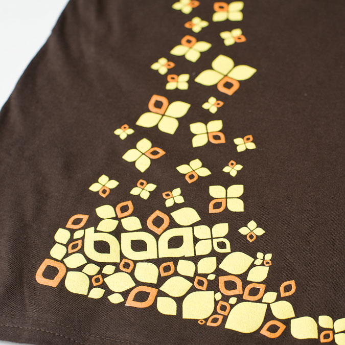 Snowflakes wmns t-shirt (Chocolate), 3