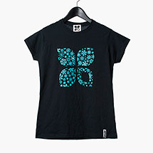 X Snowflakes womens t-shirt (Black)
