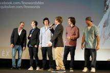 Few Words crew: On stage for the world premiere in Paris. Credit: Quiksilver/Few Words