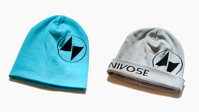 Custom branded beanies for Chamonix startup NIVOSE GEAR